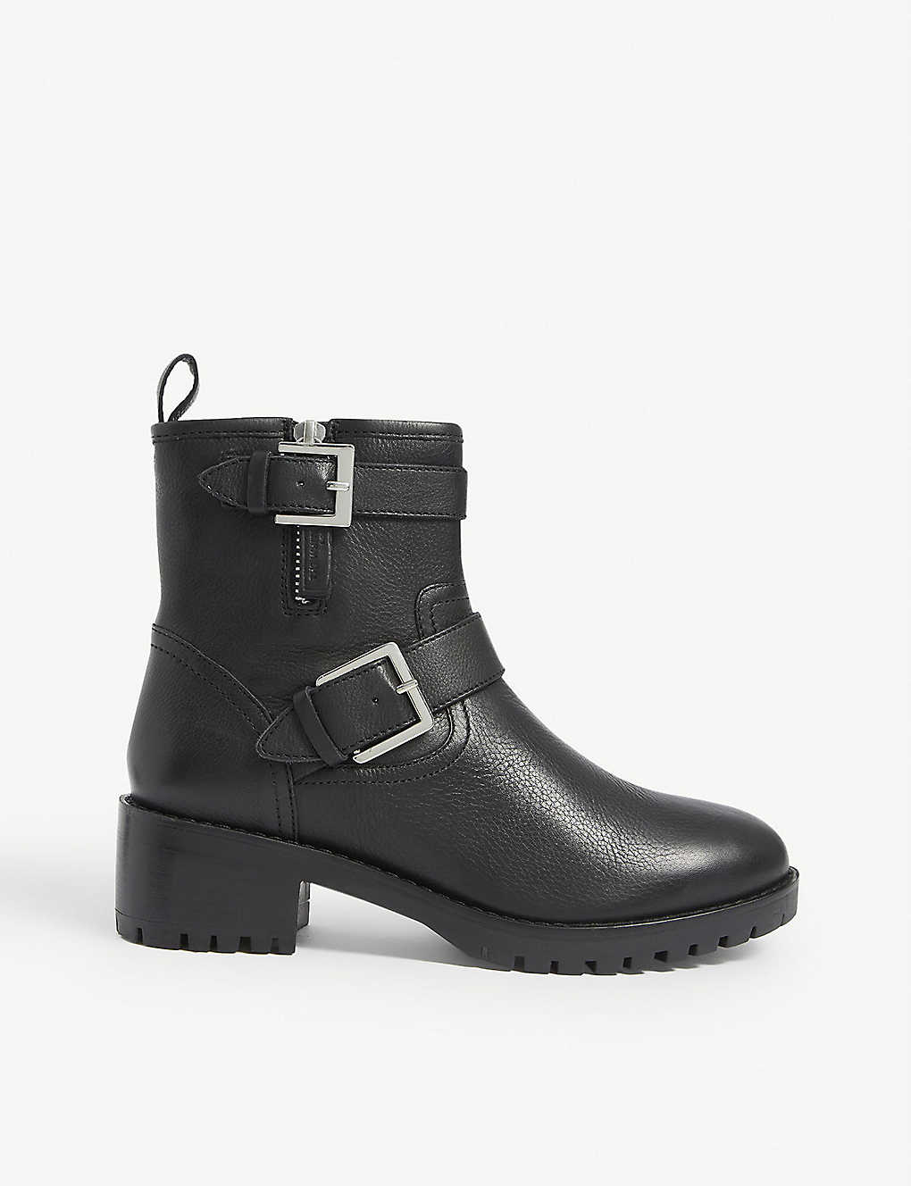 THE WHITE COMPANY: Buckled leather biker boots