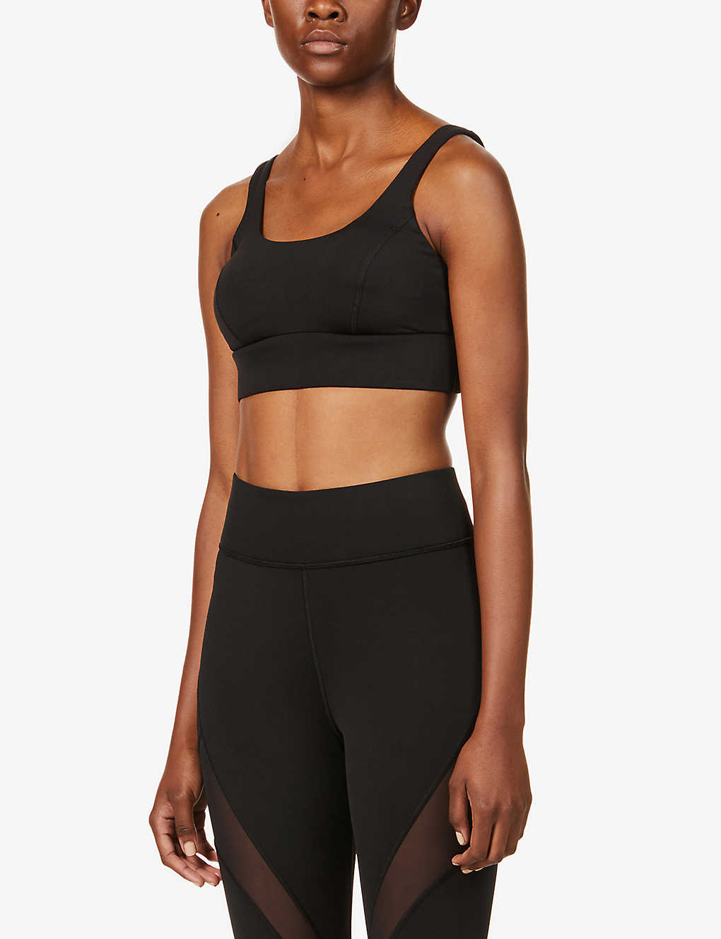 MICHI: Lotus scoop-neck stretch-jersey sports bra