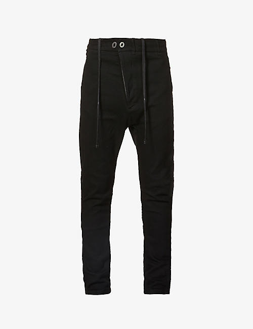 BORIS BIDJAN SABERI: Tapered cotton-blend trousers