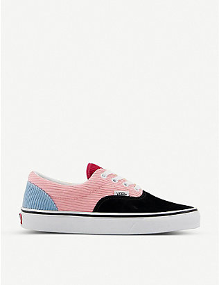 VANS: Era colour-blocked cotton-corduroy low-top trainers