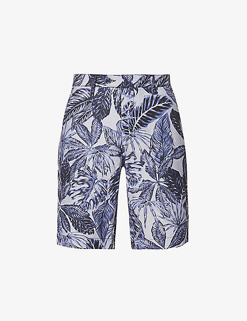TED BAKER: Graphic-print cotton shorts