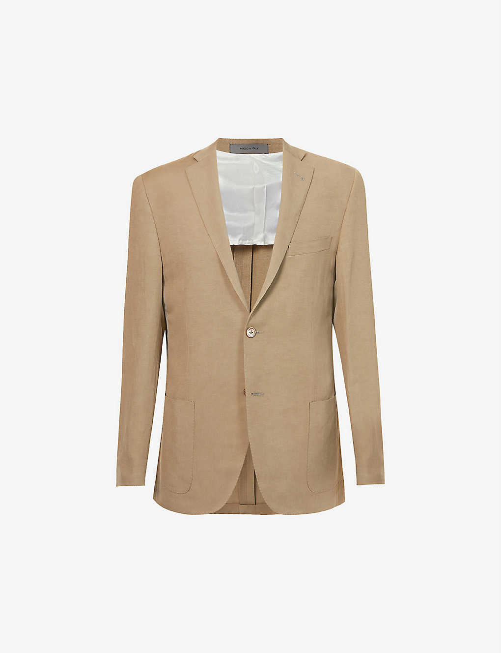 CORNELIANI: Single-breasted linen and silk-blend blazer