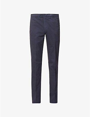CORNELIANI: Slim-fit stretch-cotton trousers