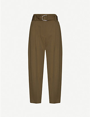 3.1 PHILLIP LIM: High-rise tapered pleated wool trousers