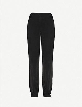 3.1 PHILLIP LIM: High-rise satin jogging bottoms