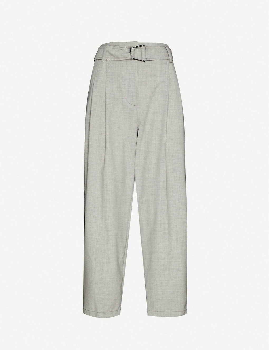 3.1 PHILLIP LIM: Chambray high-rise tapered wool trousers