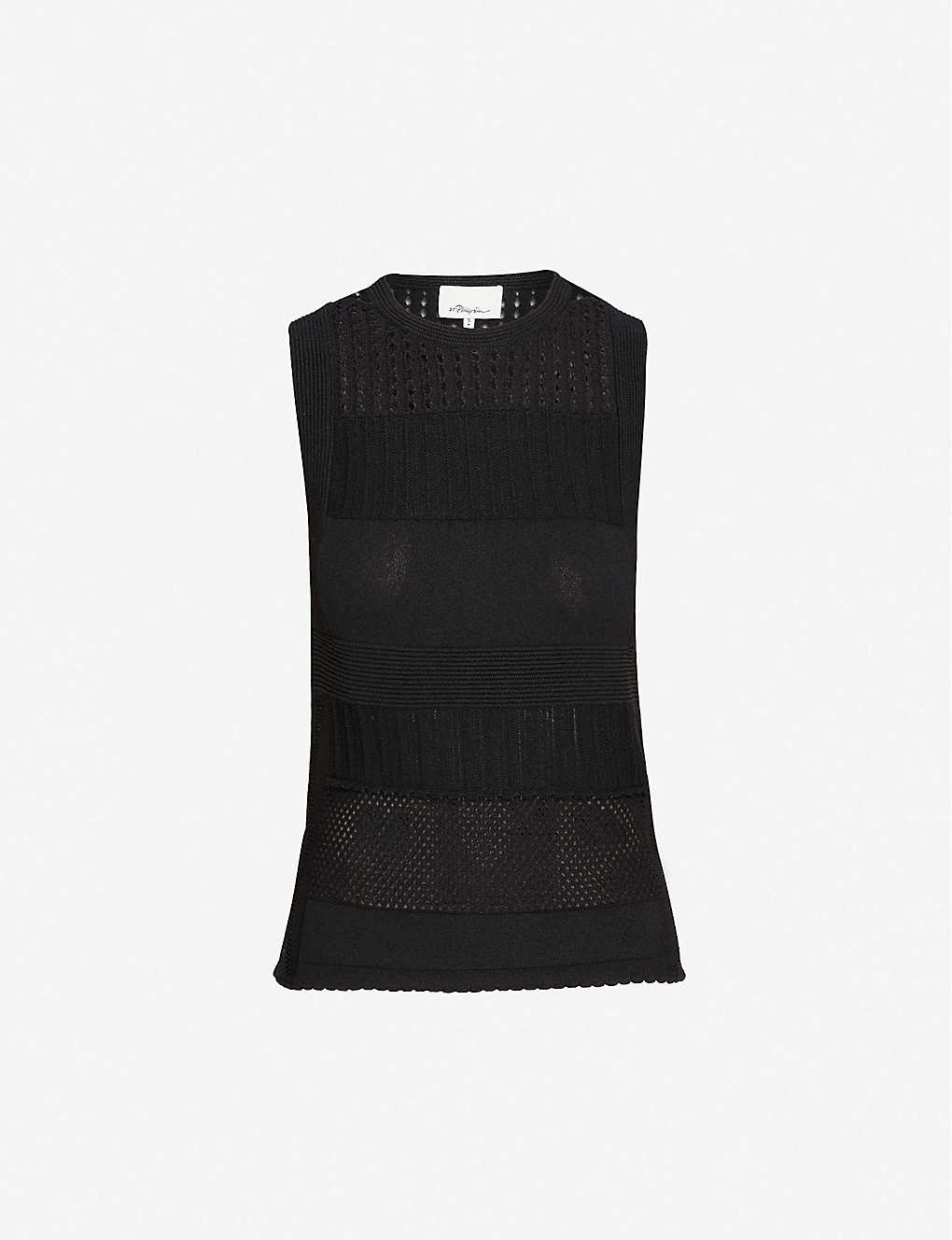 3.1 PHILLIP LIM: Sleeveless relaxed-fit cotton-knit vest