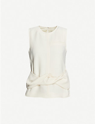 3.1 PHILLIP LIM: Wrap-over twist woven top
