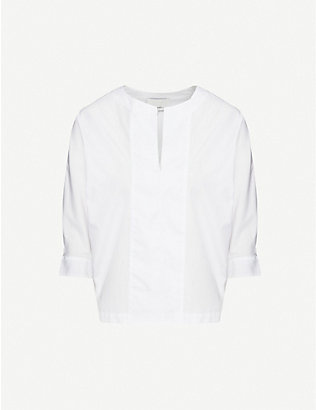 3.1 PHILLIP LIM: Dolman-sleeve cotton-poplin top