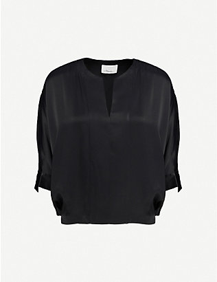 3.1 PHILLIP LIM: Dolman-sleeve satin top