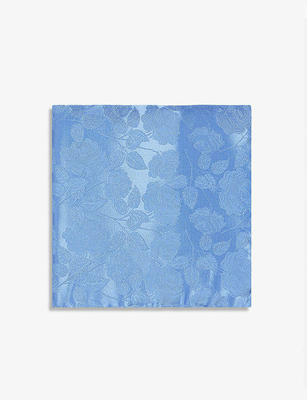 DUCHAMP LONDON: Artsy floral-print silk pocket square