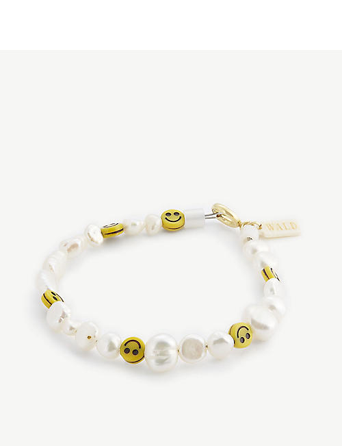 WALD BERLIN: Smiley Dude Smiley Dude pearl and glass bracelet