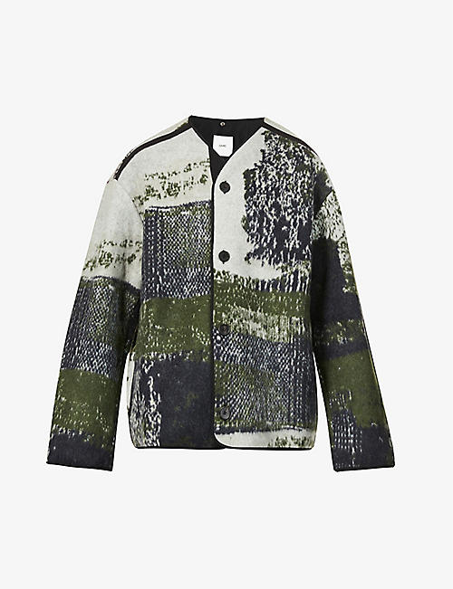 OAMC: Combat graphic-print wool jacket