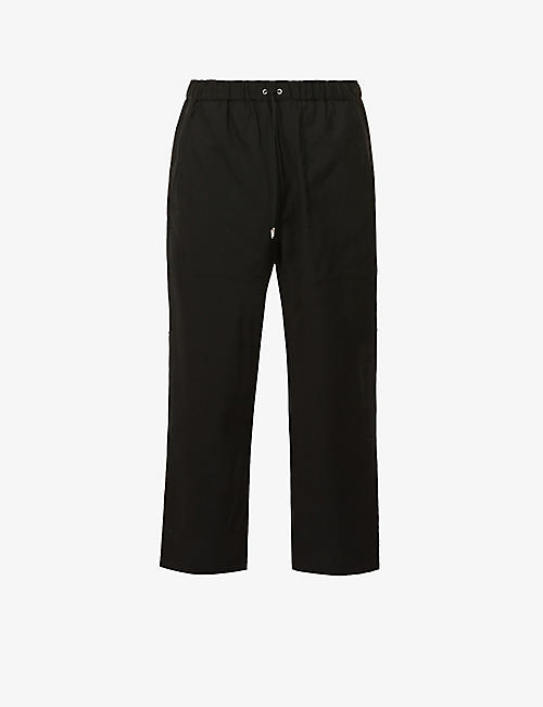 OAMC: Drawcord relaxed-fit wool trousers