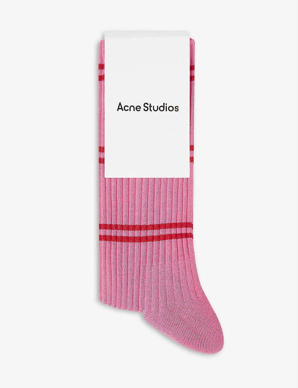 Ribbed Cotton Blend Socks