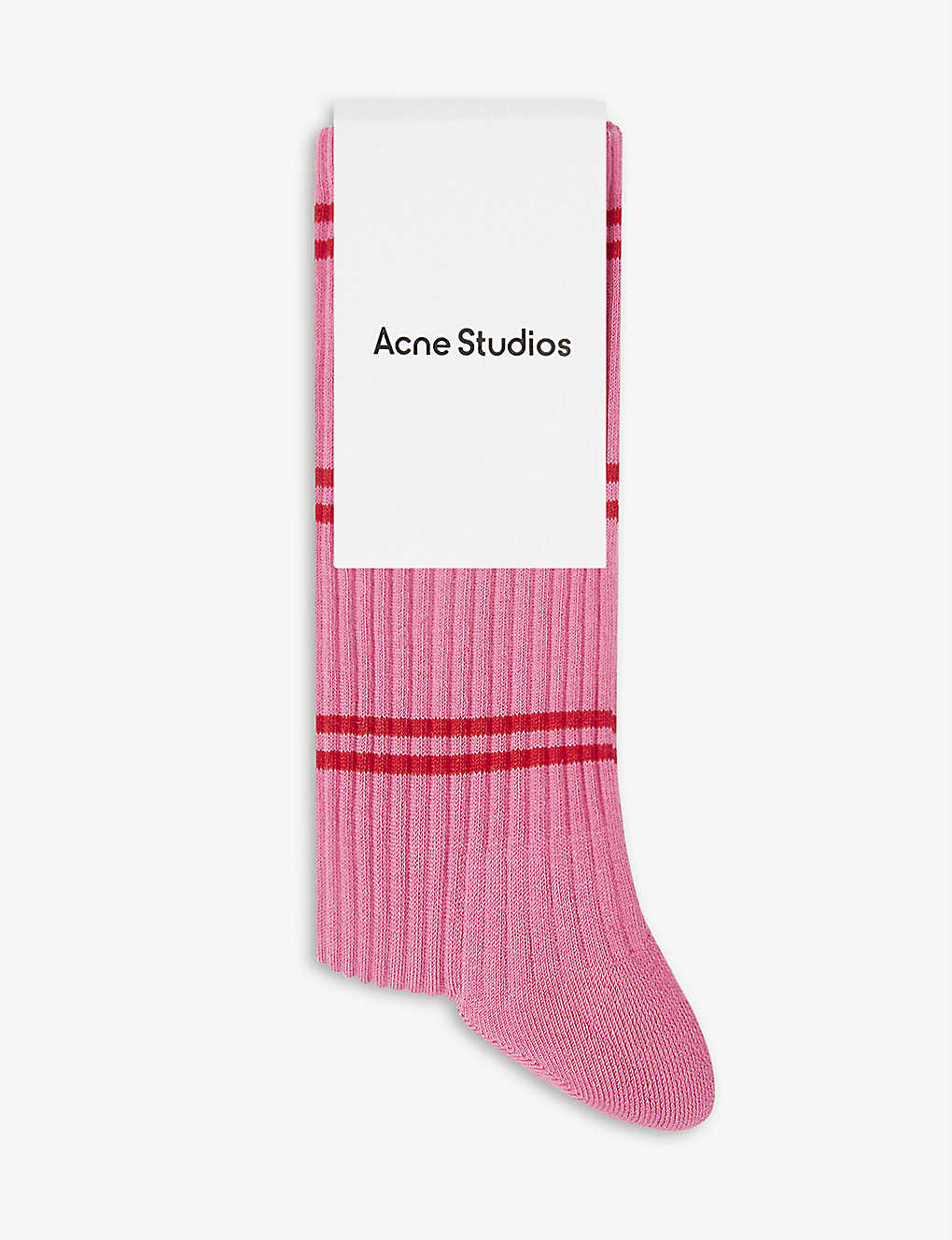 ACNE STUDIOS: Face-patch ribbed cotton-blend socks