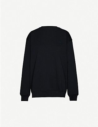 ACNE STUDIOS: Forba face-applique cotton-jersey sweatshirt