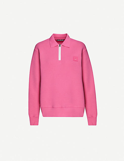 ACNE STUDIOS: Ferd logo-patch cotton-jersey sweatshirt
