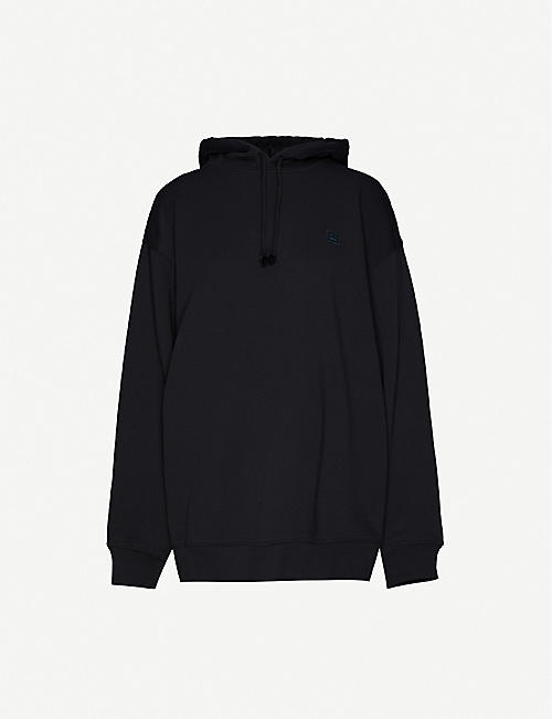 ACNE STUDIOS: Farrin face-patch cotton-jersey hoody