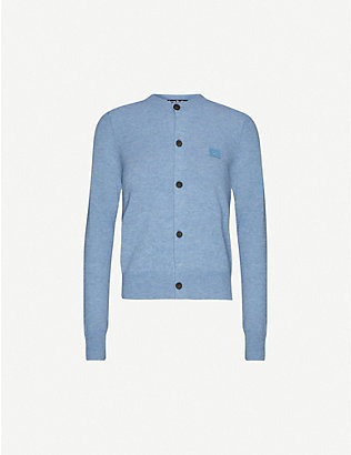 ACNE STUDIOS: Keva logo-patch wool cardigan