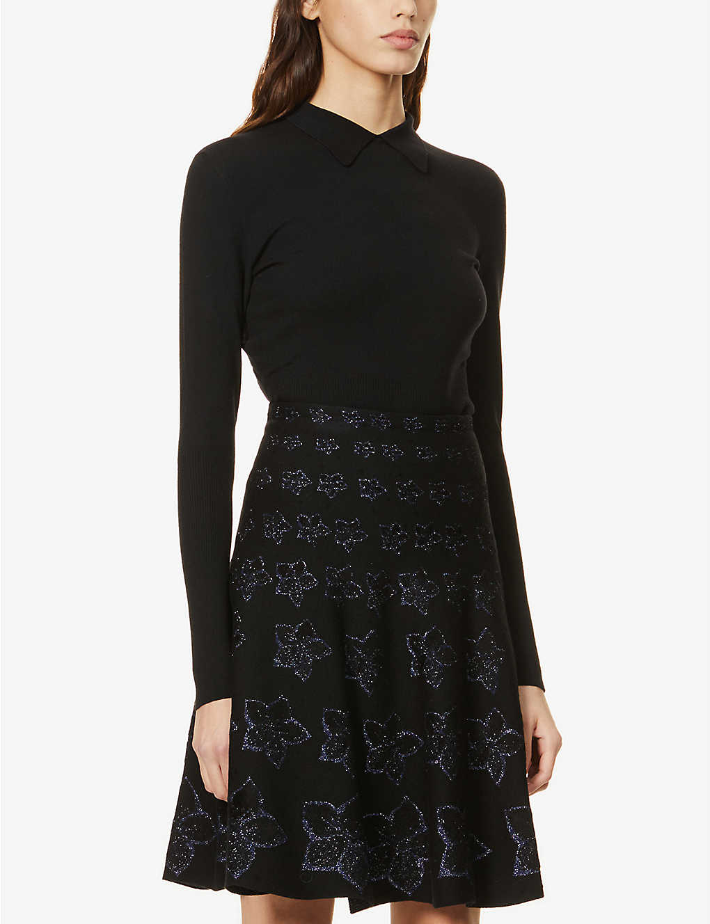 AZZEDINE ALAIA: Long-sleeved wool-blend top