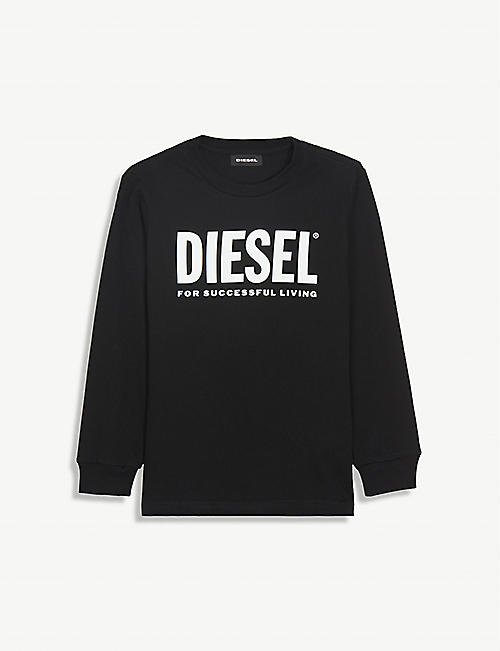 DIESEL: Logo-print long-sleeve cotton T-shirt 4-16 years