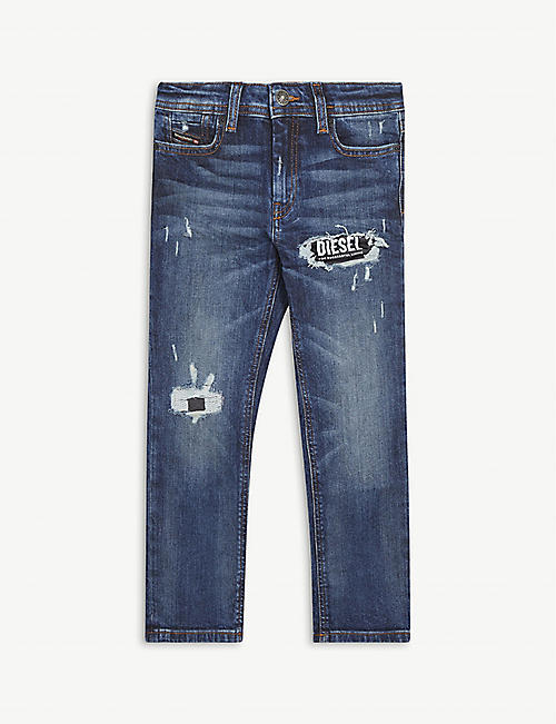 DIESEL: Reen stretch-denim straight jeans 2-16 years