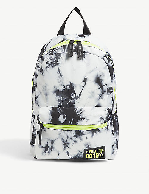 DIESEL: Tie-dye print nylon backpack