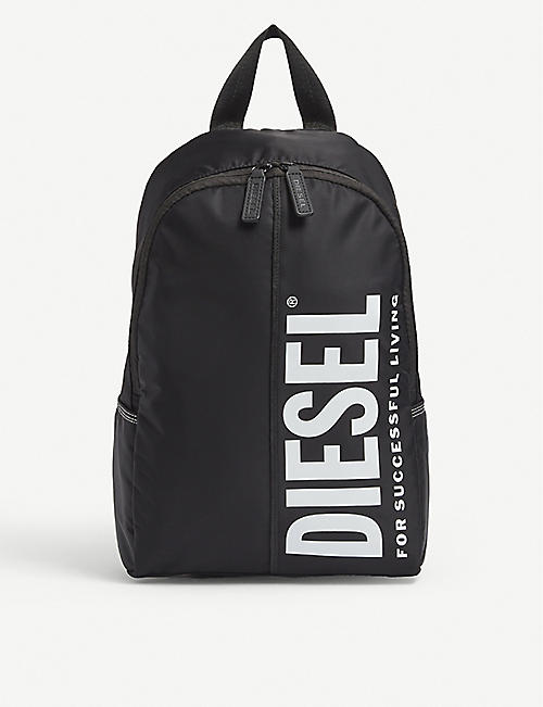 DIESEL: Logo-print nylon backpack