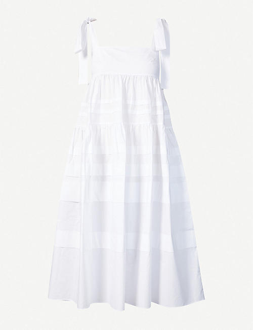 PAPER LONDON: Laura cotton maxi dress