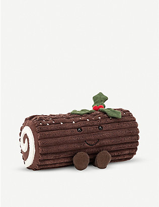 JELLYCAT: Amusable Yule Log soft toy 13cm