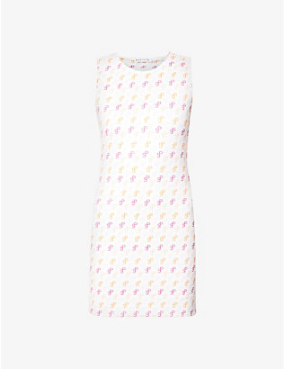 SAKS POTTS: Vision logo-print stretch-jersey mini dress