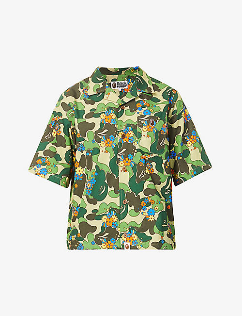BAPE: ABC Flower graphic-print cotton shirt