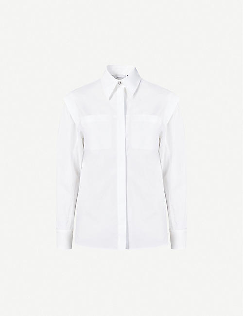 ALBERTA FERRETTI: Relaxed-fit stretch-cotton shirt