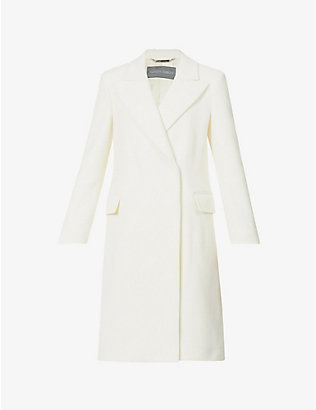 ALBERTA FERRETTI: Wrap-over wool-blend coat