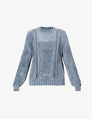 ALBERTA FERRETTI: Ladder-stitch knitted jumper