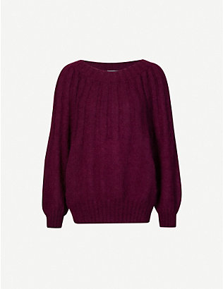 ALBERTA FERRETTI: Scoop-neck mohair-blend jumper