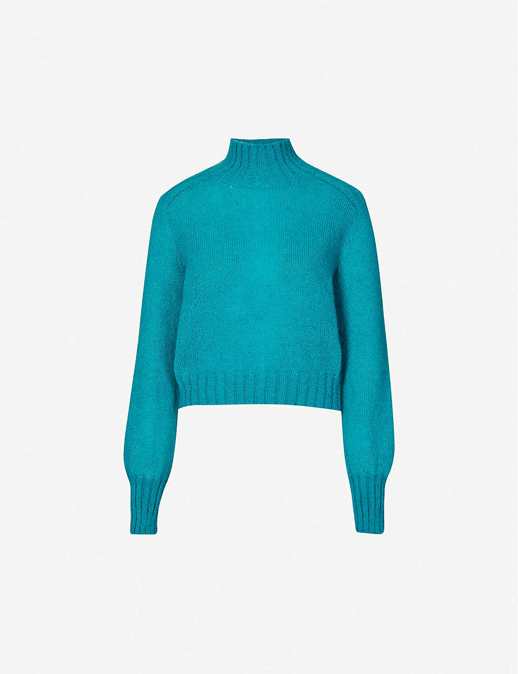 ALBERTA FERRETTI: High-neck mohair-blend jumper