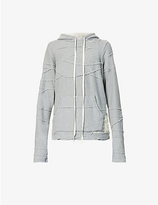 GREG LAUREN: Patchwork cotton-jersey hoody