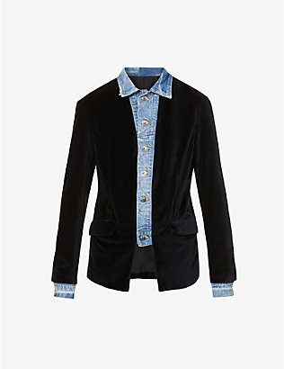 GREG LAUREN: Single-breasted velvet jacket