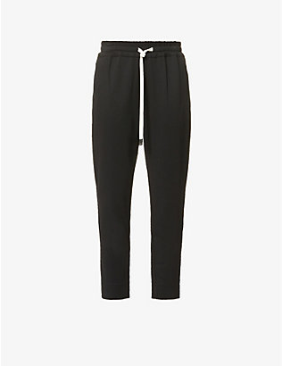 BASSIKE: Tapered high-rise stretch-twill trousers