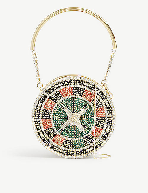 ROSANTICA: Roulette crystal top handle bag