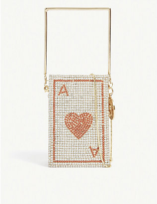 ROSANTICA: Poker Card top handle tote