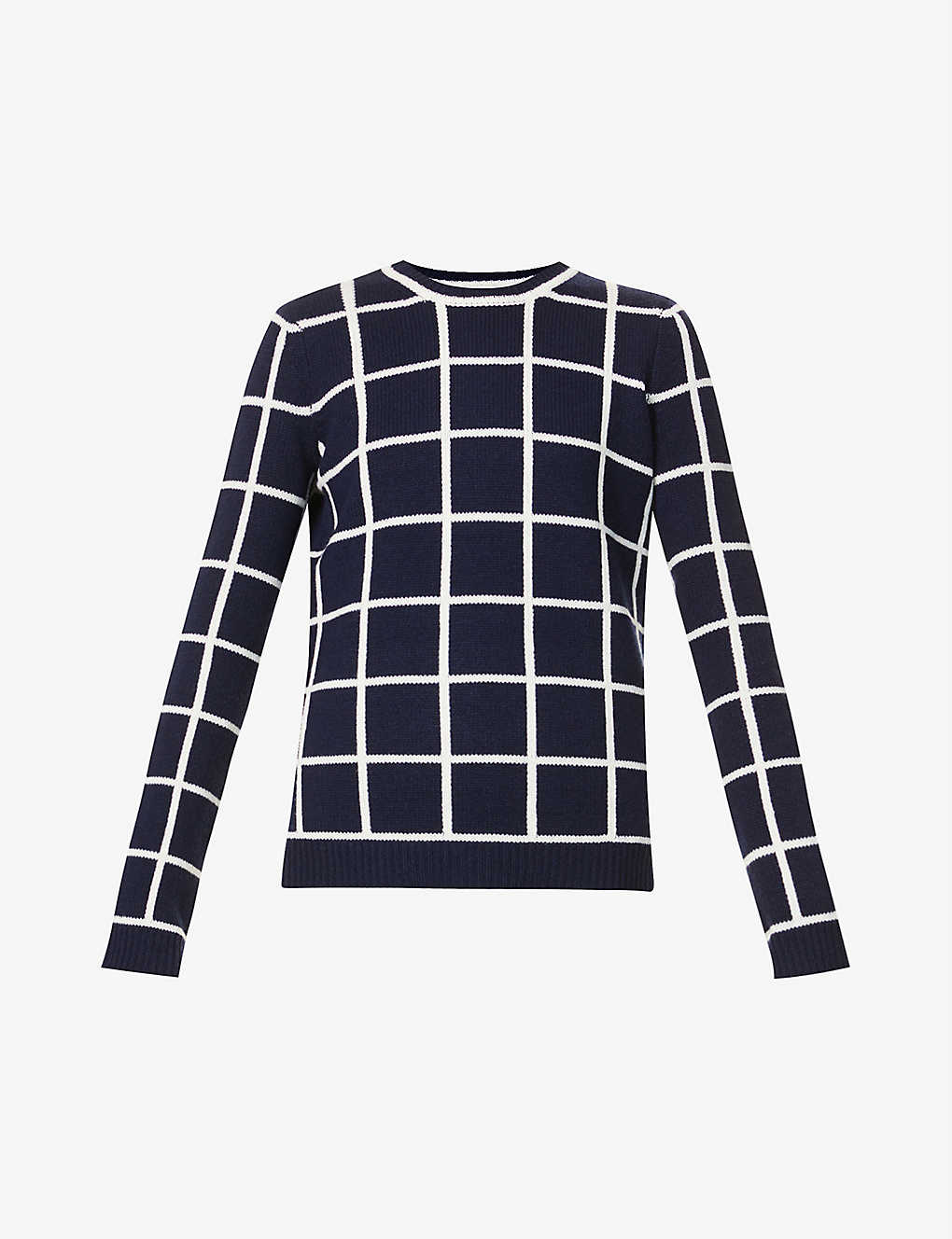 GABRIELA HEARST: Derek windowpane-pattern sequinned cashmere jumper