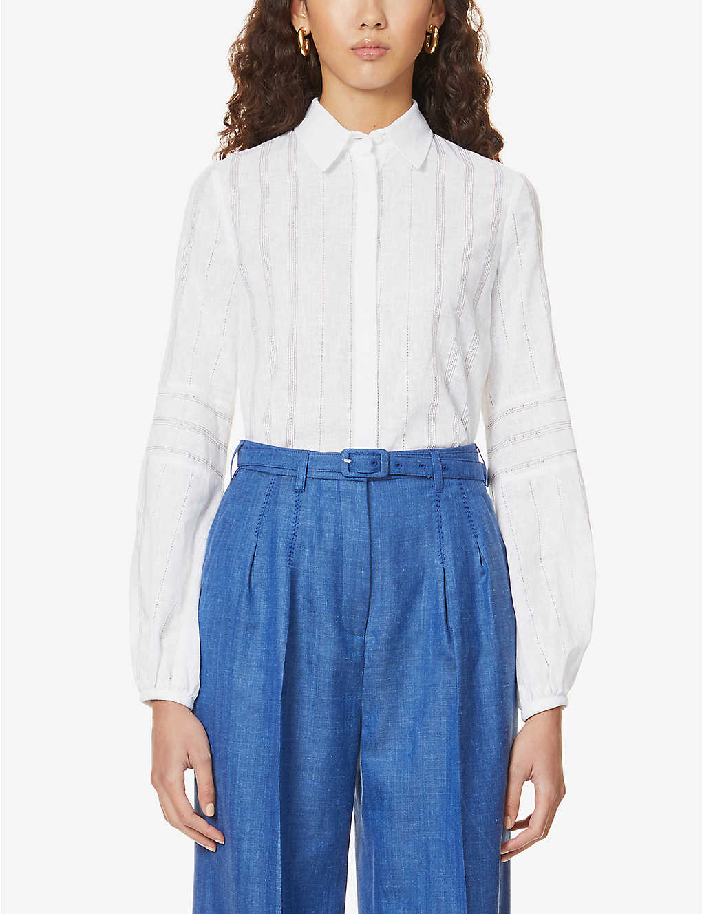 GABRIELA HEARST: Abbey embroidered cotton shirt