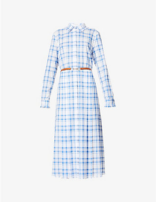 GABRIELA HEARST: Jane checked cotton midi dress