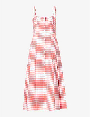 GABRIELA HEARST: Prudence gingham cotton midi dress