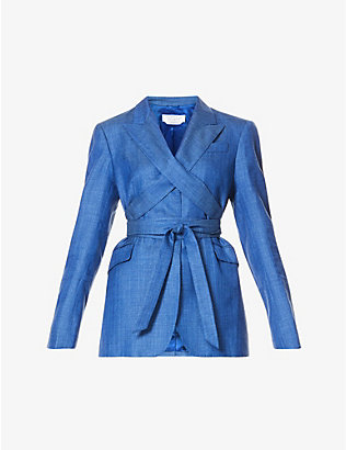 GABRIELA HEARST: Nutter peak-lapel wool, silk and linen-blend jacket