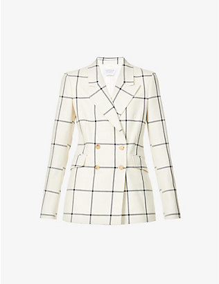 GABRIELA HEARST: Angela checked wool and silk-blend blazer