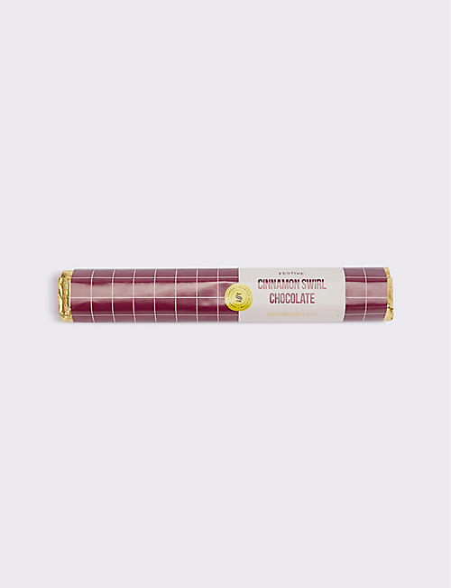 SELFRIDGES SELECTION: Cinnamon Swirl chocolate bar 85g
